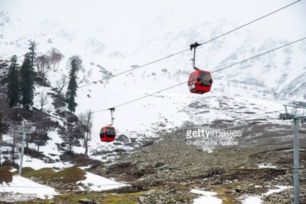 gandola cable car in gulmarg, jammu and kashmir, india - station stock pictures, royalty-free photos & images