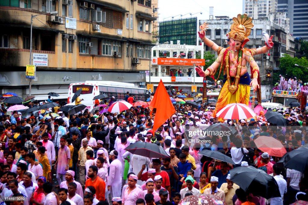 Ganesh Chaturthi Festival Mumbai India High Res Stock Photo