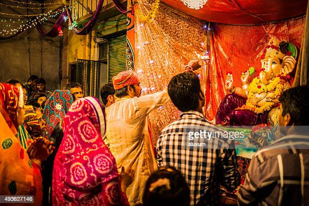ganesh chaturthi in udaipur india - ganesh chaturthi stock photos and pictures