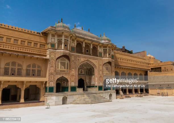 Ganesh gate in Amer fort and palace, Rajasthan, Amer, India on July 12, 2019 in Amer, India.