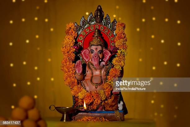 ganesh idol - mithai stock pictures, royalty-free photos & images