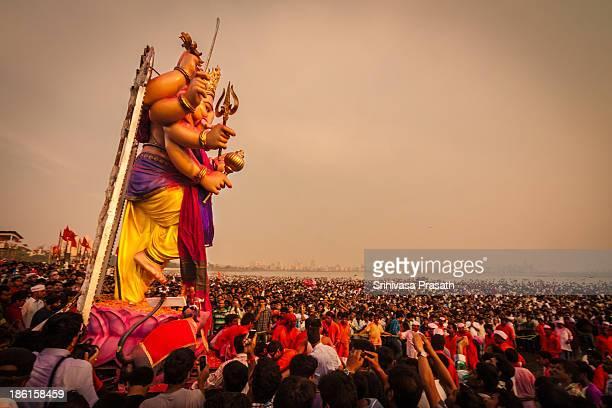 Ganesh Immersion Celebrations as part of Ganesh Chaturthi in Mumbai, India.