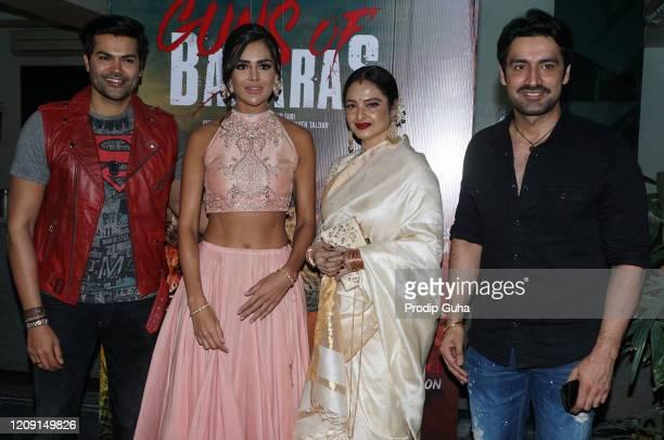 Ganesh Venkatraman Guest Rekha and Karan Nath attend the special screening of 'Guns of Banaras' on February 272020 in Mumbai India