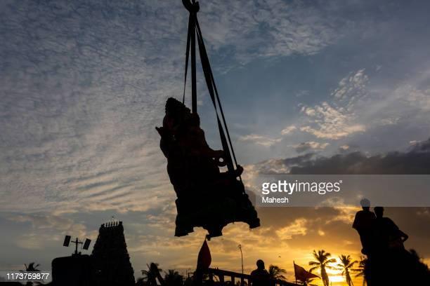 ganesh visarjan (immersion) at chennai, india, 2019 - ganesha stock pictures, royalty-free photos & images
