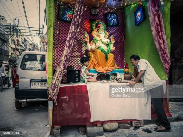 Ganesha Chaturthi festival Old Delhi India