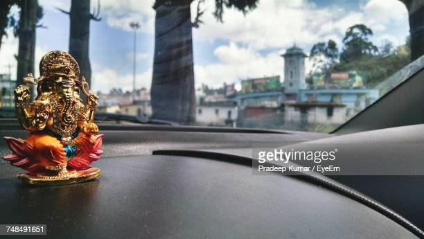 Ganesha Idol On Car Dashboard