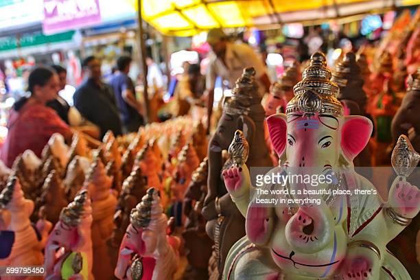 ganesha idol - ganesh chaturthi stock photos and pictures