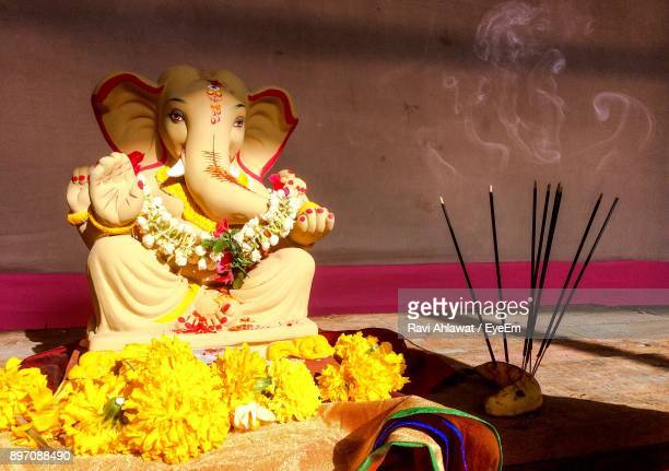 ganesha sculpture in temple - ganesha stock photos and pictures
