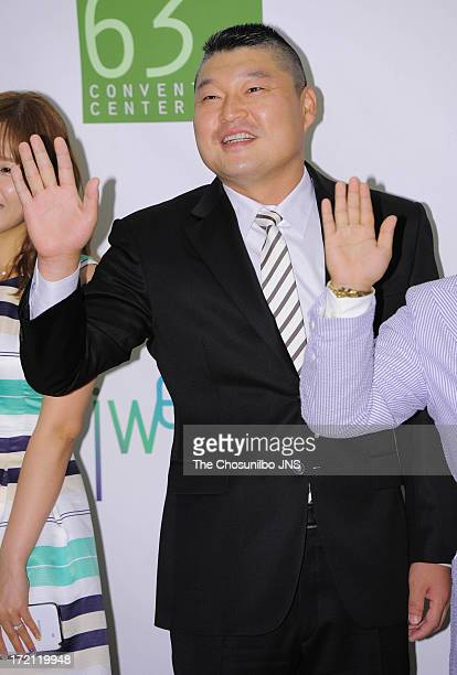 Gang HoDong attends Jang YoonJung and Do KyungWan Wedding at 63 building convention center on June 28 2013 in Seoul South Korea