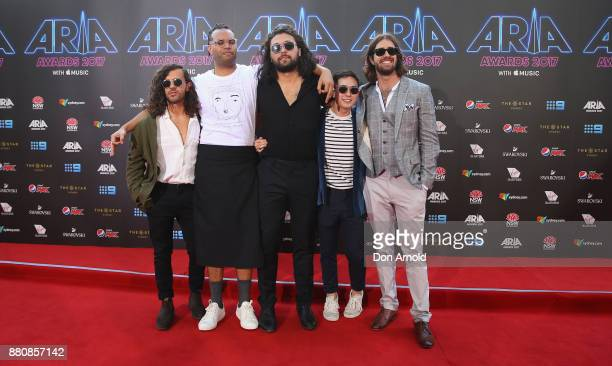 Gang of Youth arrives for the 31st Annual ARIA Awards 2017 at The Star on November 28 2017 in Sydney Australia
