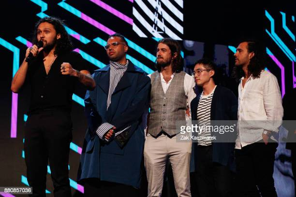 Gang of Youths accept the ARIA for Album of The Year during the 31st Annual ARIA Awards 2017 at The Star on November 28 2017 in Sydney Australia