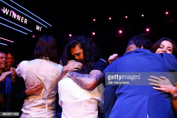Gang of Youths celebrate winning the ARIA for Album of The Year during the 31st Annual ARIA Awards 2017 at The Star on November 28 2017 in Sydney...