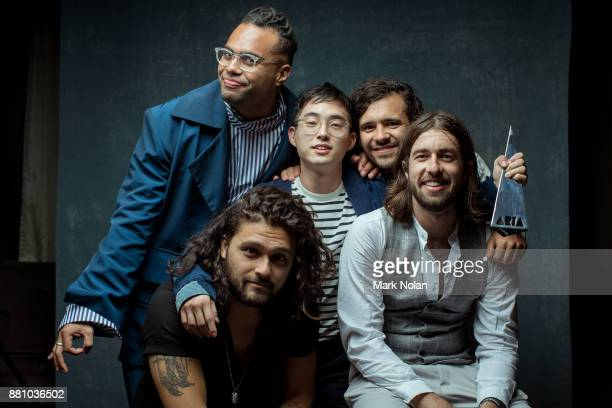 Gang of Youths pose for a portrait with an ARIA for Apple Music Album Of The Year Best Group and Best Rock Album during the 31st Annual ARIA Awards...