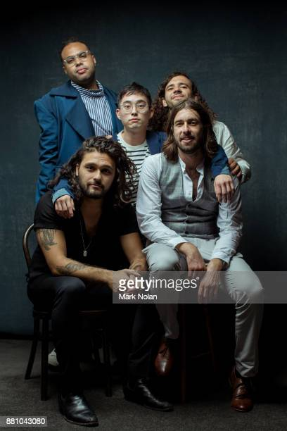 Gang of Youths pose for a portrait with an ARIA for Apple Music Album Of The Year, Best Group, and Best Rock Album during the 31st Annual ARIA Awards...