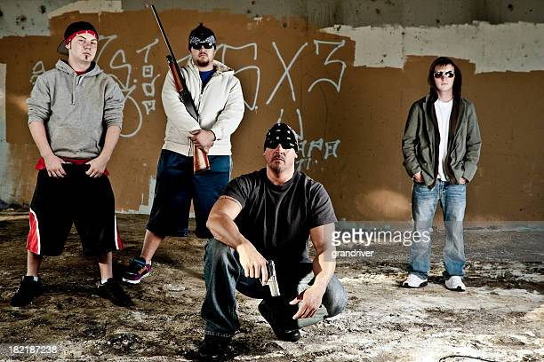 gang - hooligan stock pictures, royalty-free photos & images