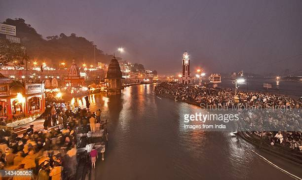 ganga aarti - river ganges stock pictures, royalty-free photos & images