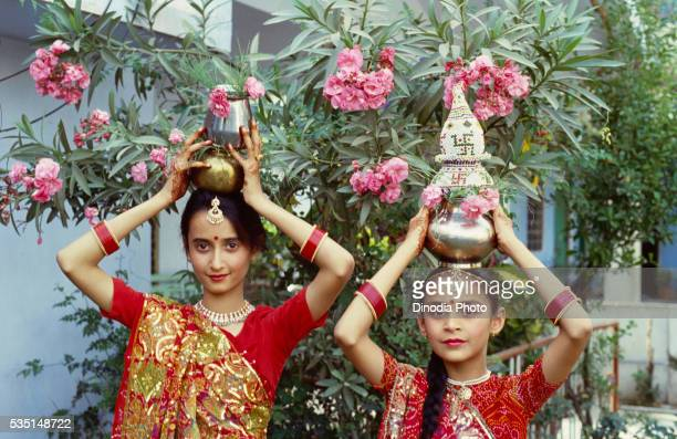 gangaur festival in udaipur, india. - gangaur stock pictures, royalty-free photos & images
