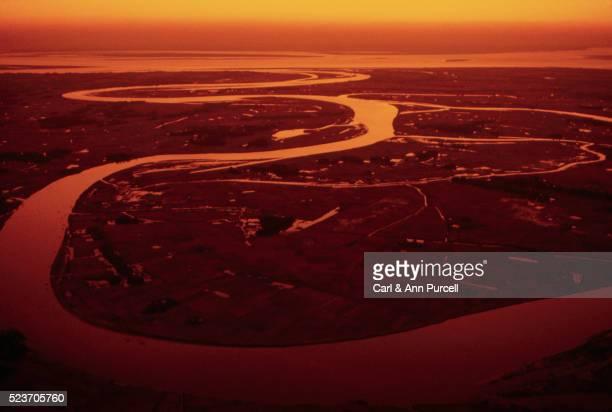 Ganges River Delta at Sunset