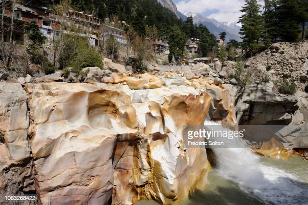Gangotri Waterfall the place where the holy river Ganges first appeared on earth on April 20 2010 in India