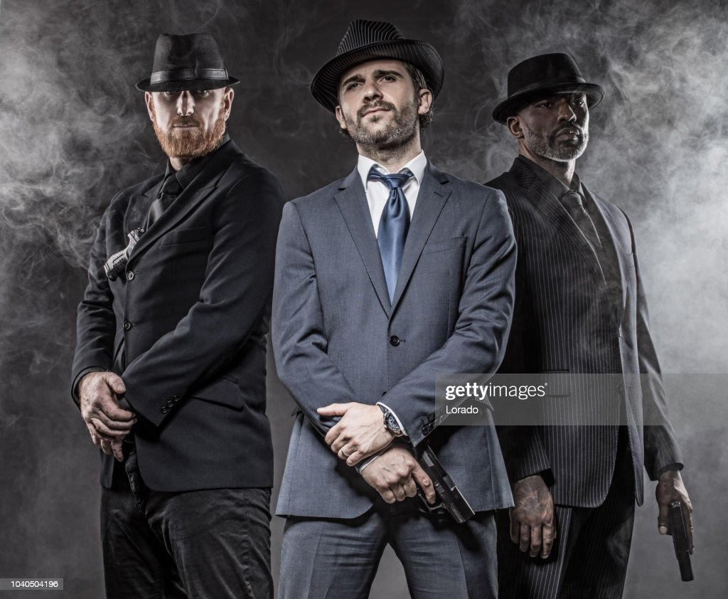 Gangster Mafia Men : Stock Photo