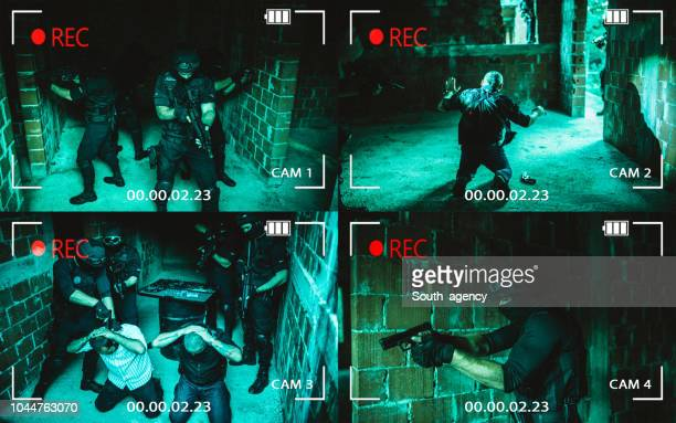 gangsters and police - shooting crime stock pictures, royalty-free photos & images