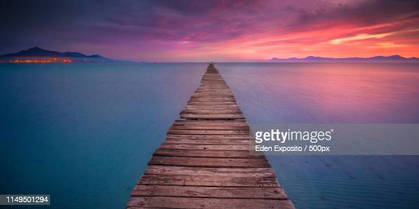 gangway at muro beach - muro stock photos and pictures