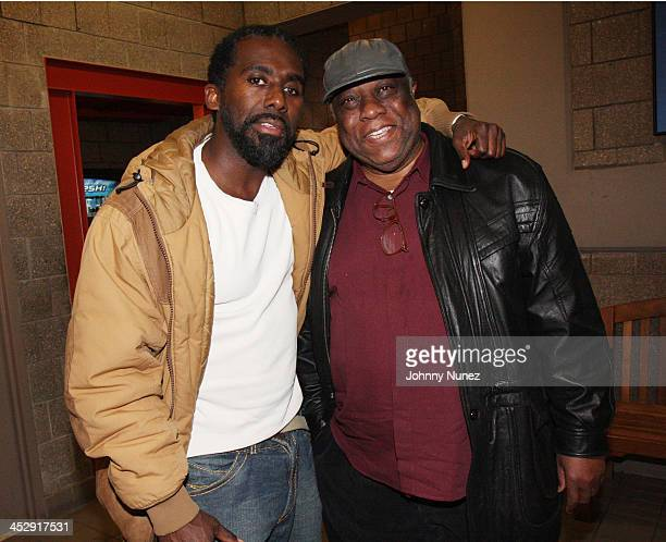 Gano Grills and Amiri Baraka attend the New Federal Theatre's presentation of Salaam Huey Newton Salaam at the Henry Street Settlement's Abrons Arts...