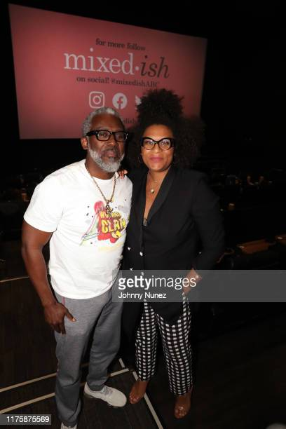 """Gano Grills and Julee Wilson attend the """"Mixed-ish"""" New York Screening at Regal Battery Park Cinemas on September 19, 2019 in New York City."""