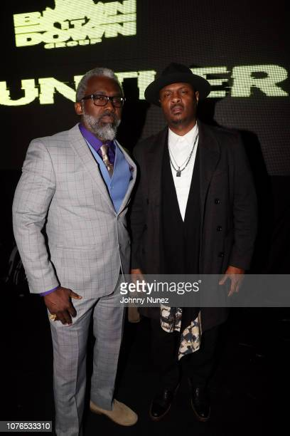 Gano Grills and Kainon Jasper attend the New Year's Eve Late Night Party With Snoop Dogg at Highline Ballroom on December 31 2018 in New York City
