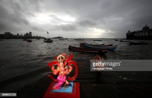 Ganpati immersion of one and half day at Lotus Jetty opposite to haji Ali in Mumbai