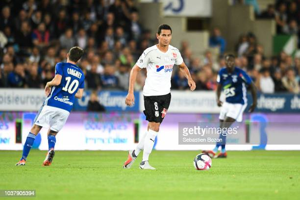Ganso of Amiens during the Ligue 1 match between Strasbourg and Amiens at La Meinau Stadium on September 22 2018 in Strasbourg France