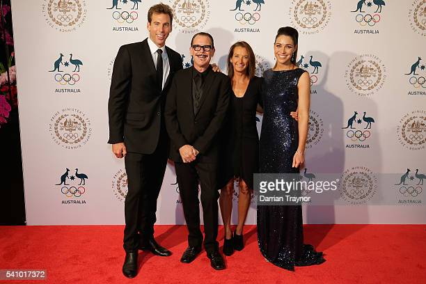 Gant Hackett Kirk Pengilly Layne Beachley and Giaan Rooney arrive at the Prime Minister's Olympic Dinner at The Melbourne Convention and Exhibition...