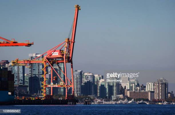 A boat sails past the Burnaby Refinery operated by Parkland Fuel Corp in Burnaby British Columbia Canada on Wednesday Sept 19 2018 US Trade...