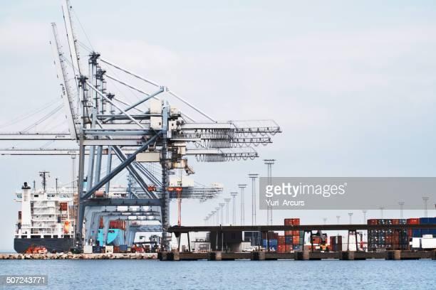 Gantry Cranes in a harbor