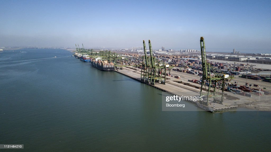 CHN: Aerial Views of Tianjin Port as Xi Jinping Plans Europe Visit in Bid to Offset Concerns, Boost Trade
