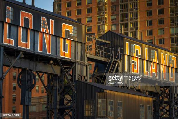 gantry plaza gantries - queens new york city stock pictures, royalty-free photos & images