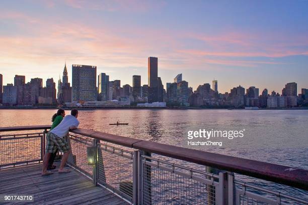 gantry plaza state park - long island city stock photos and pictures