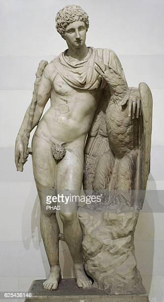 Ganymede with the Eagle Roman after Greek original from the Praxiteles school of 3rd century BC Statue Marble The State Hermitage Museum Saint...