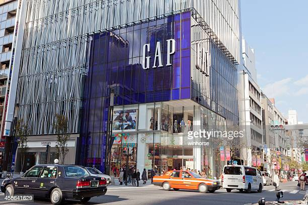 gap flagship store in ginza, tokyo, japan - flagship store stock pictures, royalty-free photos & images