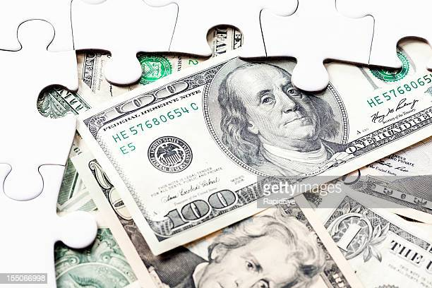 Gap in incomplete jigsaw reveals stash of US dollars