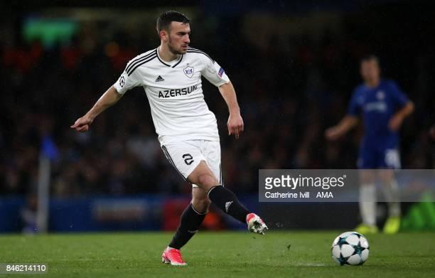 Gara Garayev of Qarabag during the UEFA Champions League group C match between Chelsea FC and Qarabag FK at Stamford Bridge on September 12 2017 in...