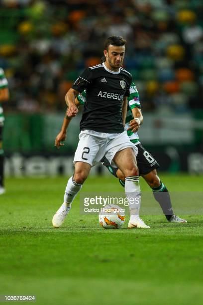 Gara Garayev of Qarabag FK during the UEFA Europa League Group E match between Sporting CP and Qarabag FK at Estadio Jose Alvalade on September 20...