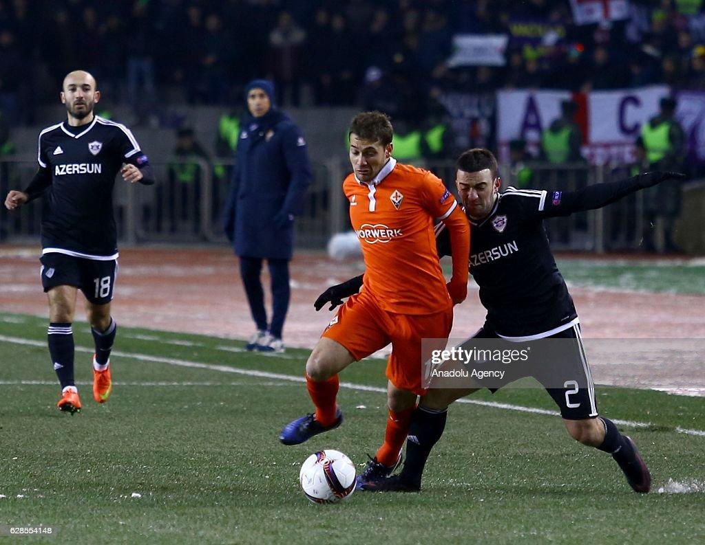 Qarabag- Fiorentina - UEFA Europa League : ニュース写真