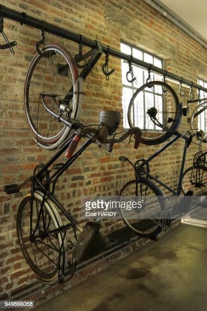 Garage a velo dans le Centre historique minier de Lewarde, ancienne fosse Delloye le 8 septembre 2012 a Lewarde, France.