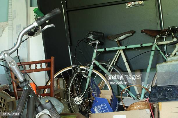 garage chaos - obsolete stock pictures, royalty-free photos & images