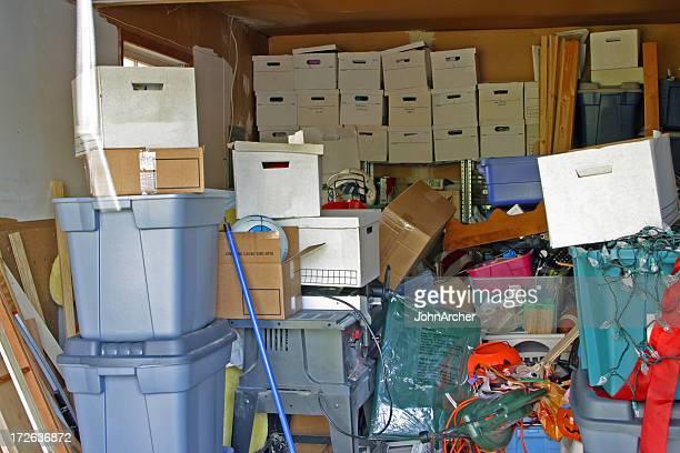 Garagem objectos acumulados