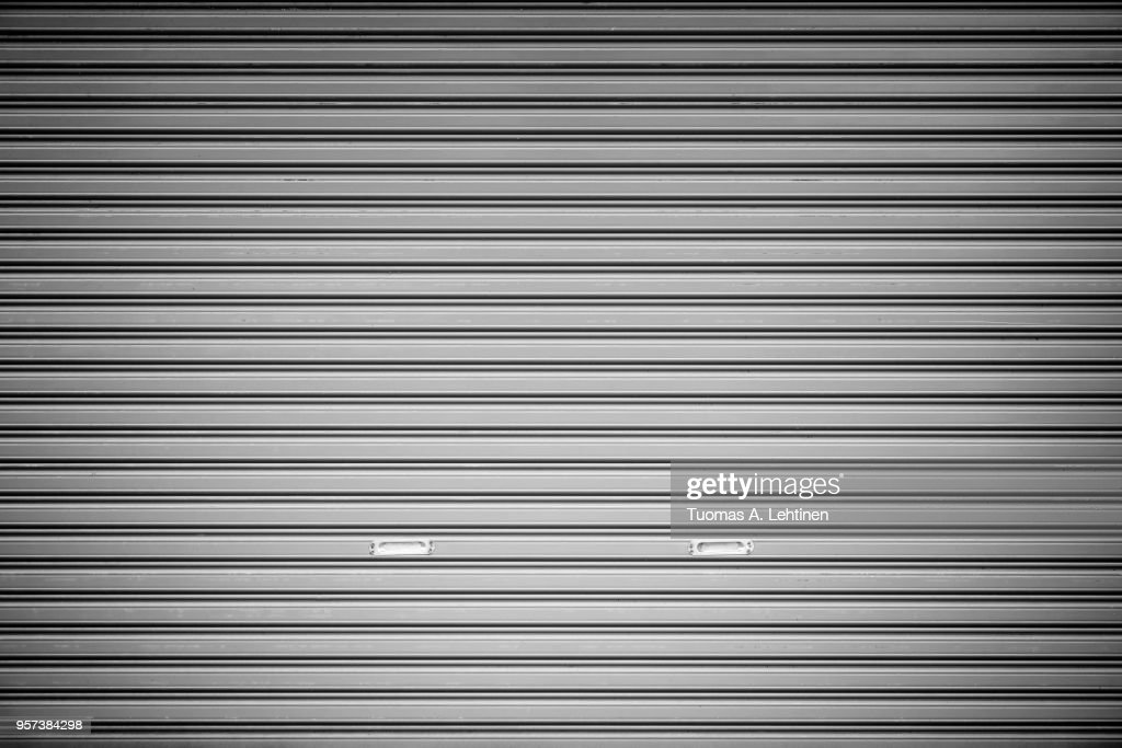 Garage door background : Stock Photo