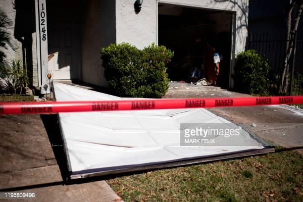 A garage door was blown off after an explosion at a northwest Houston Texas manufacturing business on January 24 2020 A large industrial explosion...