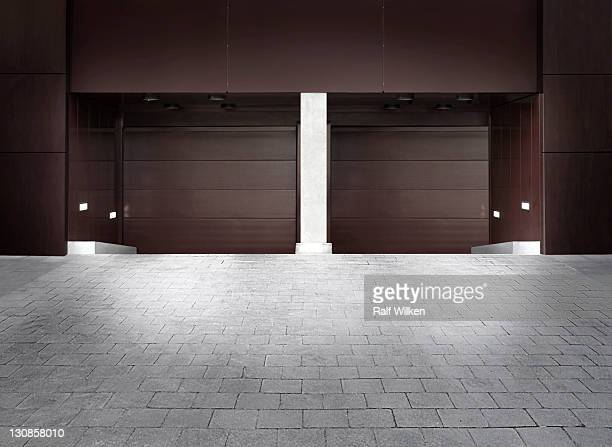 Garage entrance, Hafencity district, Hamburg, Germany, Europe