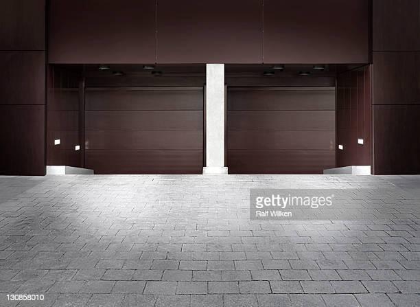 Garage entrance, Hafencity district, Hamburg, Germany, Europe
